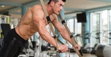 Brustübungen Schlingentrainer, TRX