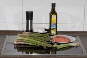 Spargel Lachs Omelett Rezept