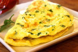 Feta Omelett für das Essen nach dem Training
