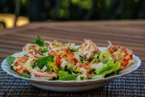 Garnelen Salat als Low-Carb Abendessen
